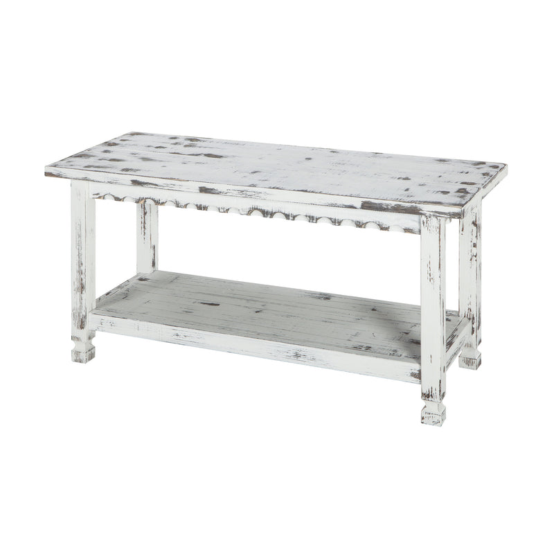 Berkshire Antique Finish 1-Shelf Bench