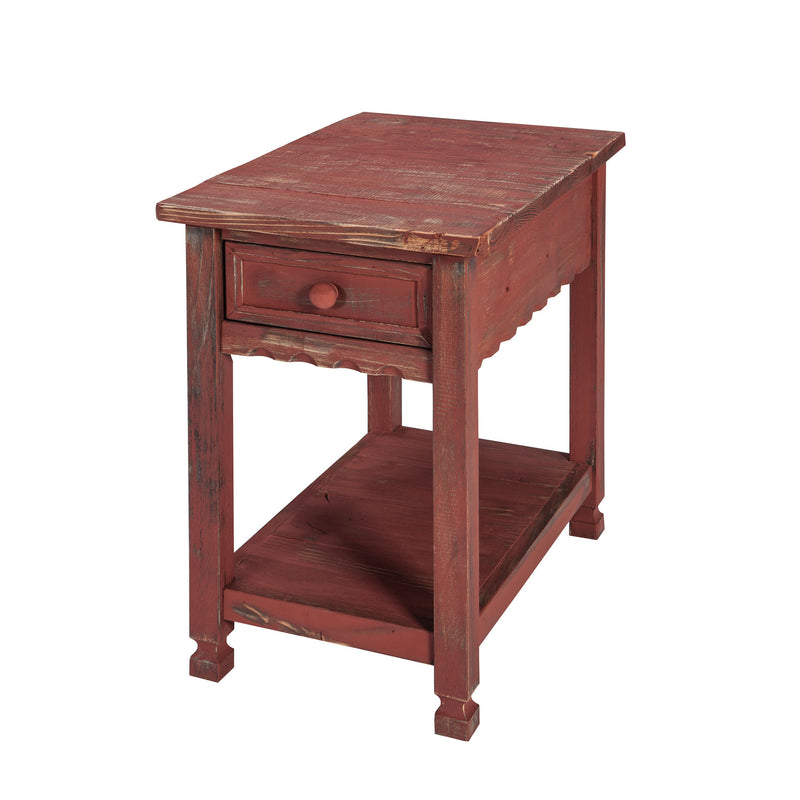 Berkshire Antique Finish 1-Drawer Chairside Table