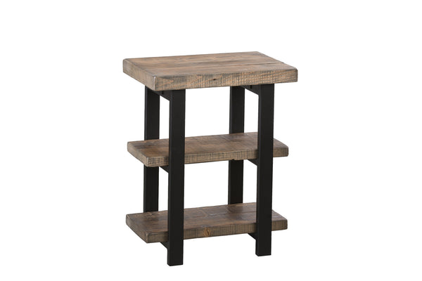 Natural 2 Shelf End Table