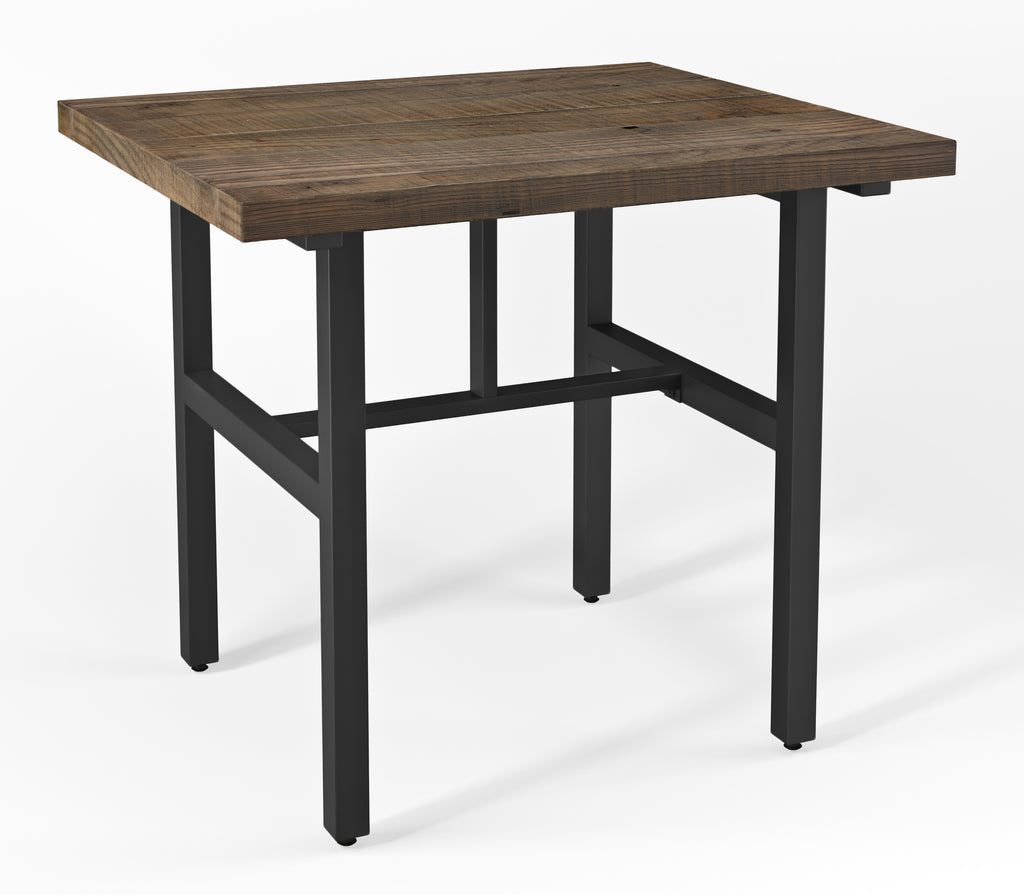 Sylvan Reclaimed Wood and Metal Counter Height Dining Table