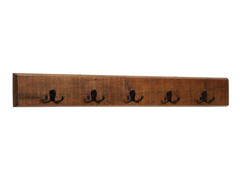 Redden Natural Reclaimed Wood Wall Coat Hook and Bench Set