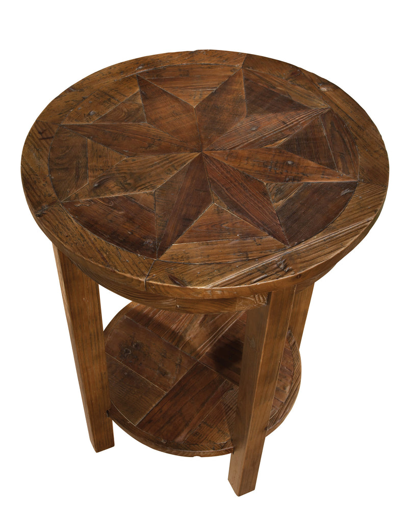 Reclaimed Round End Table