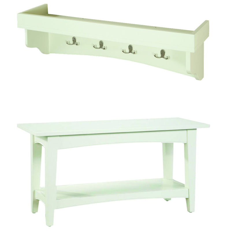 Canterbury Court Tray Coat Hook and Bench Set