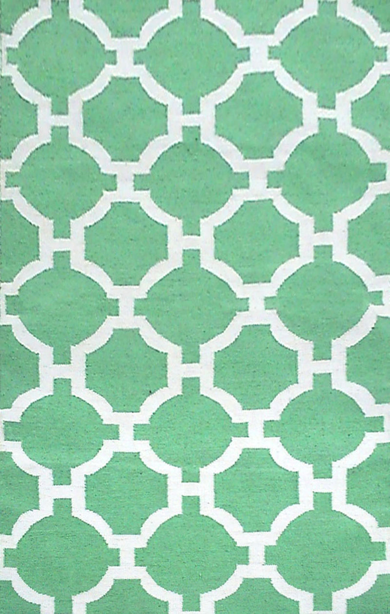 "Tile Aqua 42"" x 66"" Indoor/Outdoor Flatweave Rug"