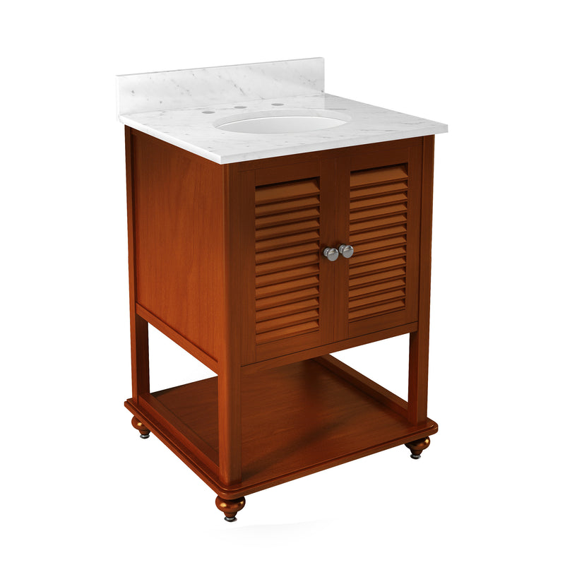 Gallina Chestnut Bath Vanity with Marble Top