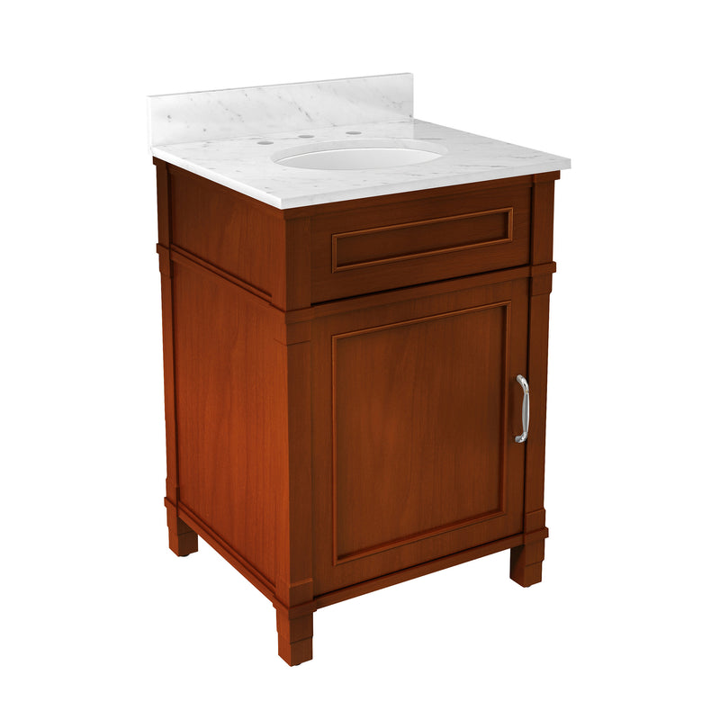 Rosedale Chestnut Bath Vanity with Marble Top