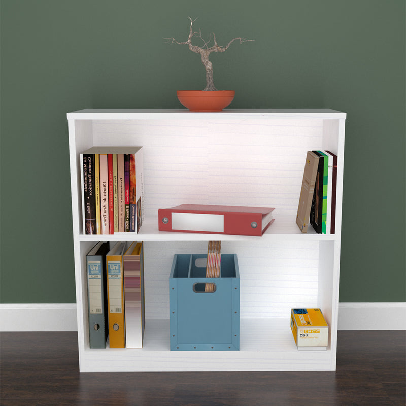 Laricina-White Bookcase/Hutch