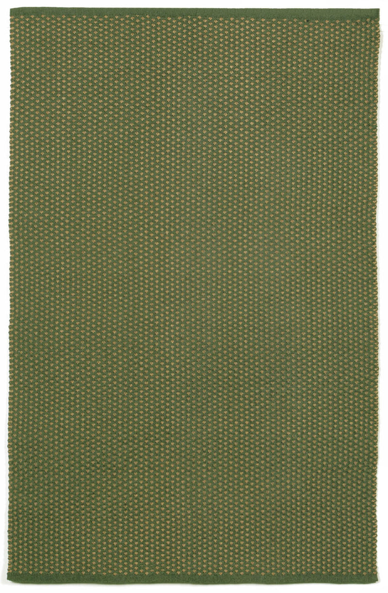 "Pebbles Green 24"" x 8' Indoor/Outdoor Flatweave Rug"