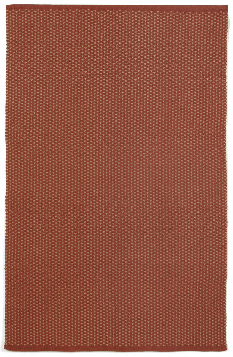 "Pebbles Terracotta 5' x 7'6"" Indoor/Outdoor Flatweave Rug"