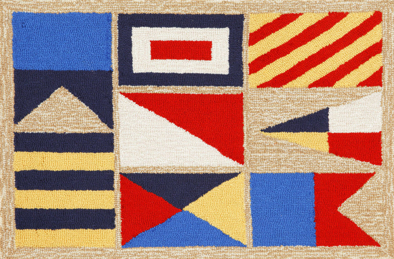 "Signal Flags Natural 20"" x 30"" Indoor/Outdoor Rug"