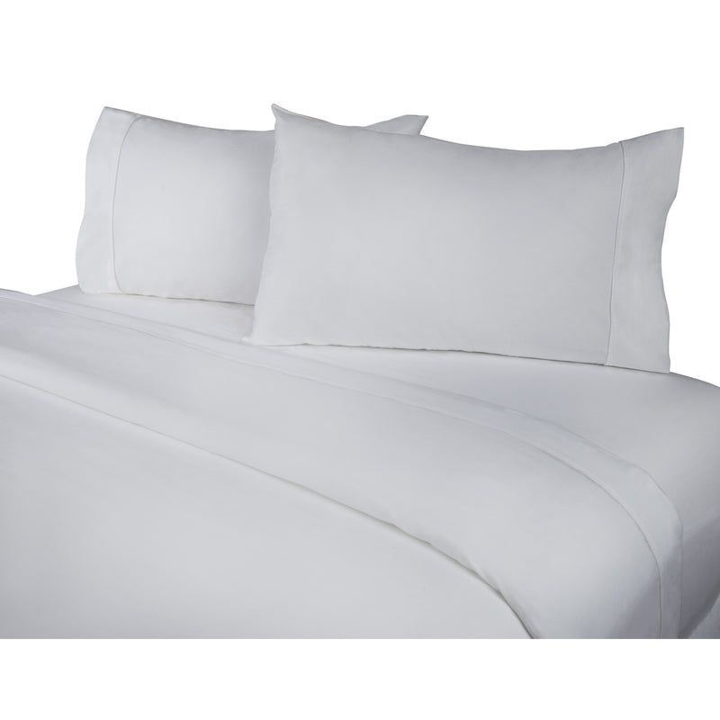 400 Thread Count 4-Piece White Sheet Set