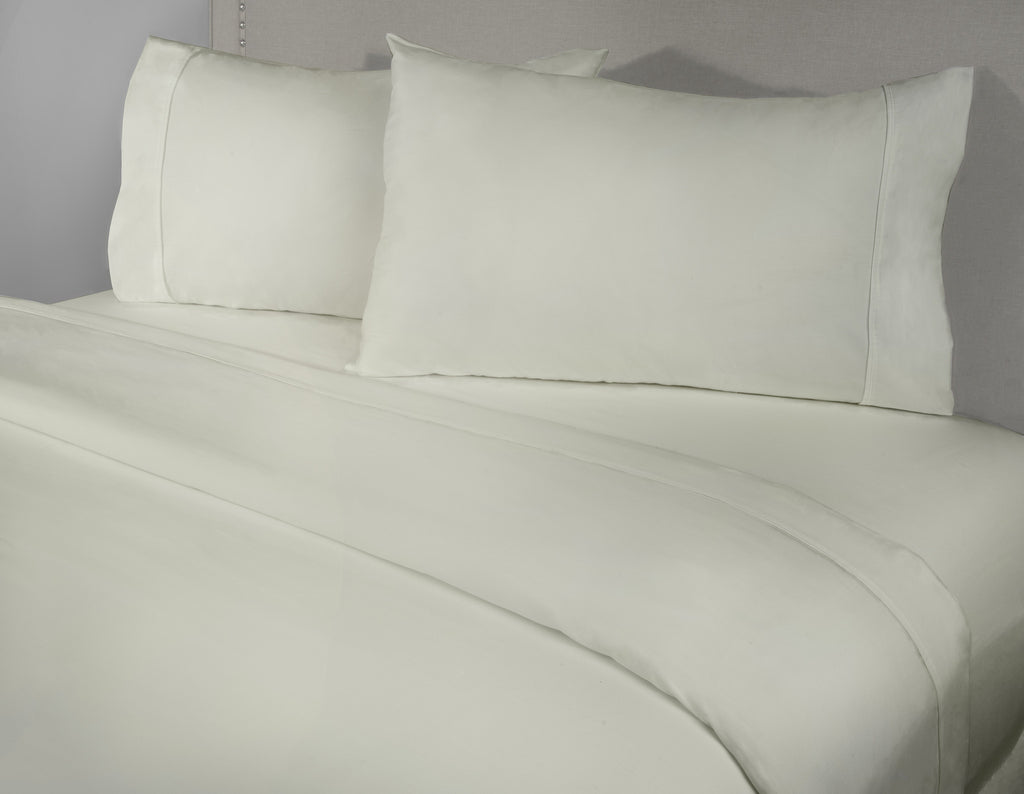 400 Thread Count 4-Piece Ivory Sheet Set