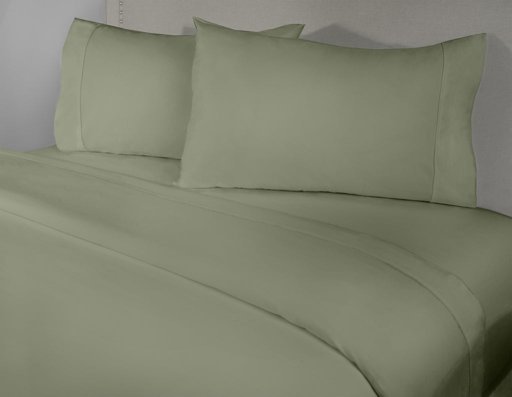 400 Thread Count 4-Piece Sage Sheet Set