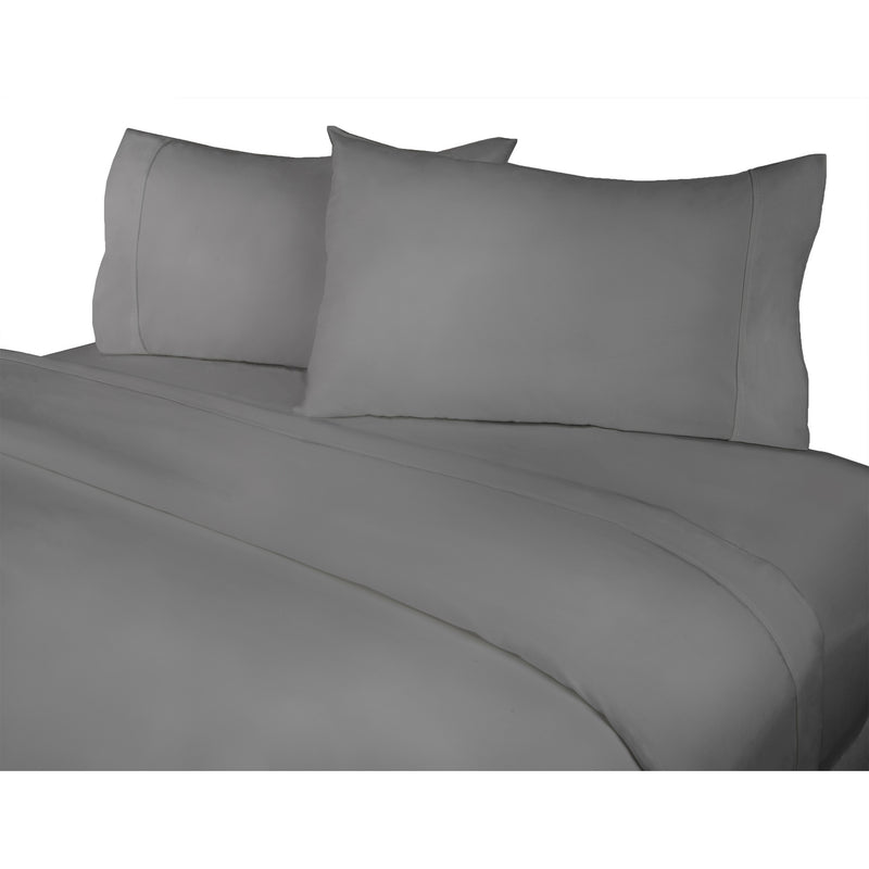 400 Thread Count 4-Piece Grey Sheet Set