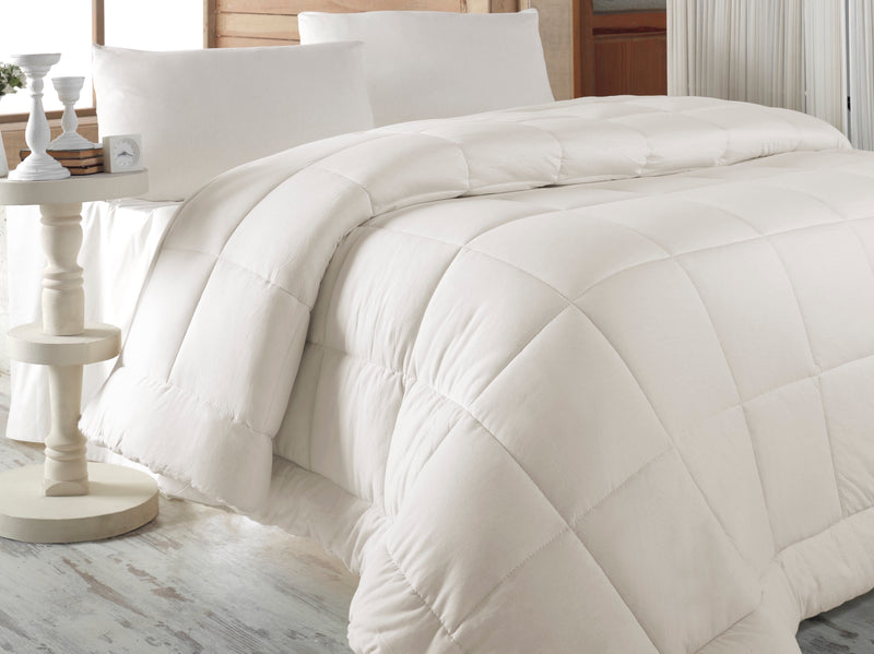 3-Piece Melange Jersey Knit King Comforter Set