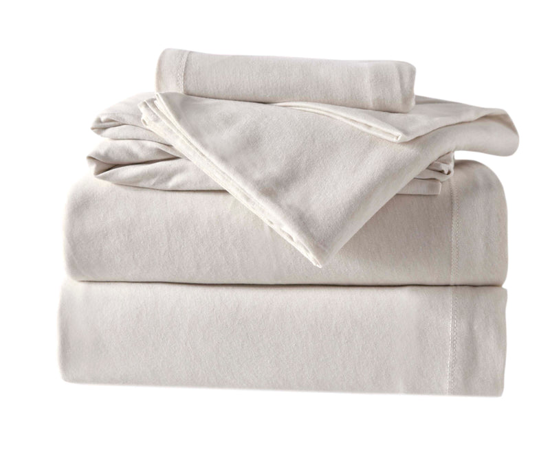 4-Piece Melange Jersey Knit King Sheet Set