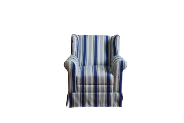 Michael Anthony Furniture Boys Wingback With Blue Ticking