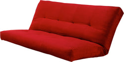 Verti Coil Hinged Mattress Suede Red