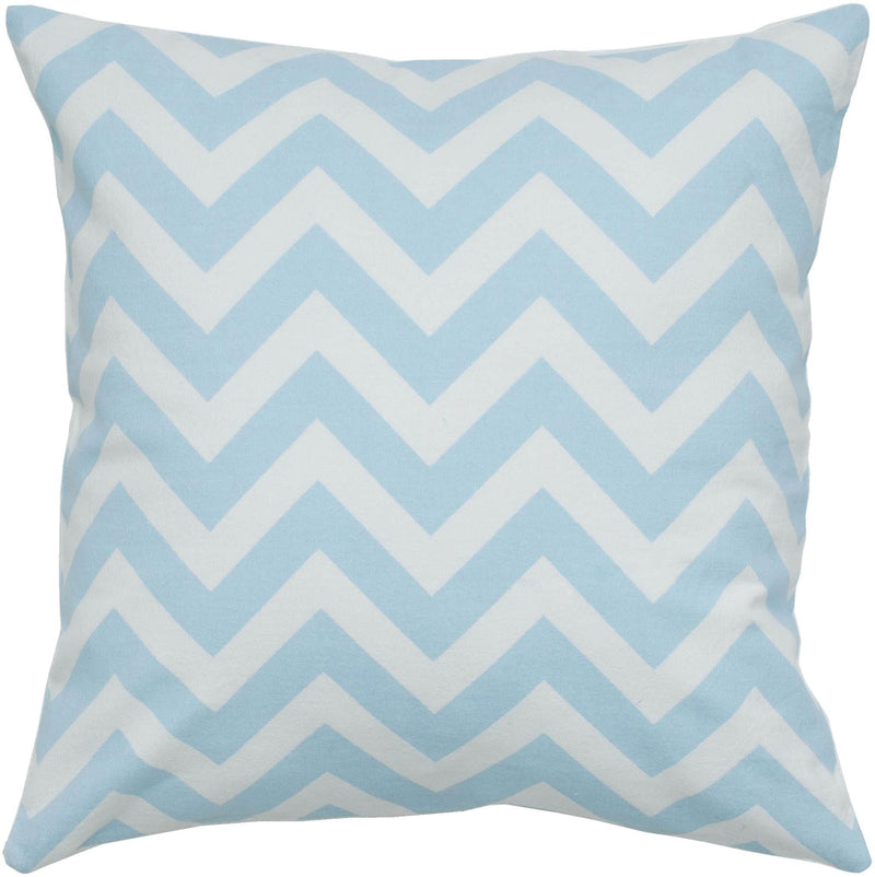 "Printed Light Blue Pillow Cover (18"" x 18"")"