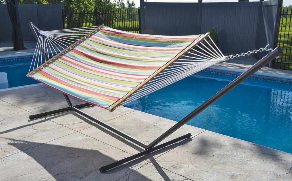 Quilted Fabric Hammock - Double