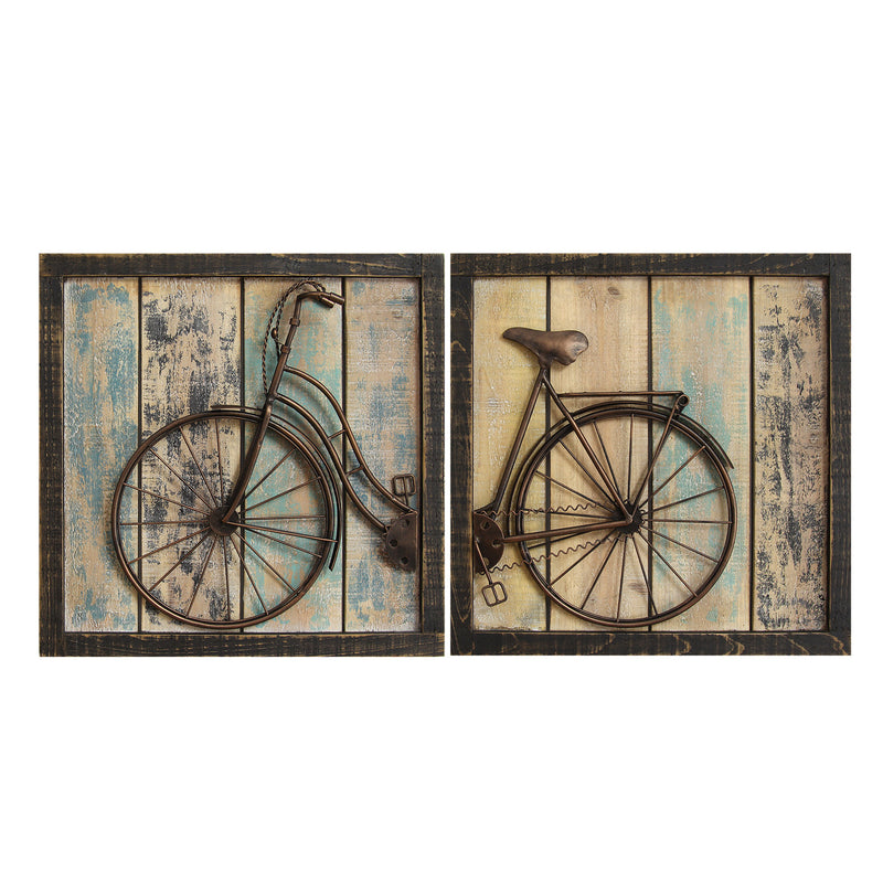 Gosport Antique Bicycle Wall Decor Panel (Set of 2)