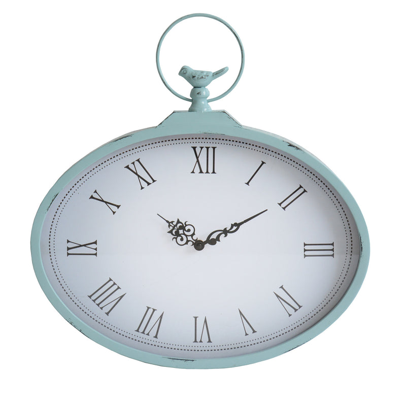 Tottenham Light Blue Rustic Pocket Watch Wall Clock