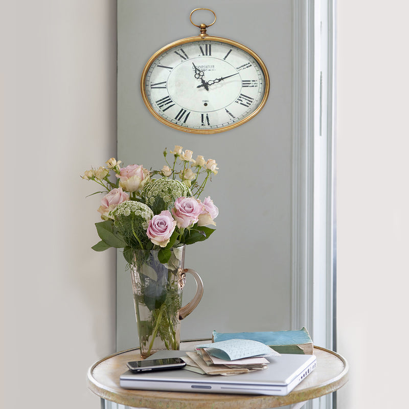 Beckenham Gold Circle Wall Clock