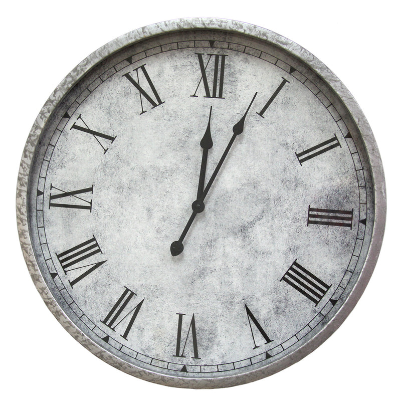 Brackley Distressed Metal 18-inch Round Wall Clock