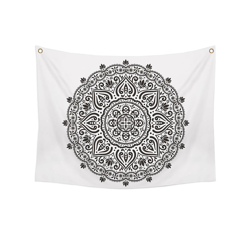 Burzaco Black and White Bohemian 58-inch Wall Tapestry
