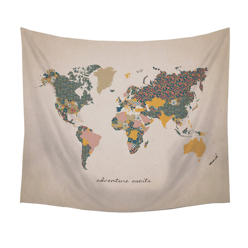 Eldorado Adventure Awaits World Map 58-inch Wall Tapestry