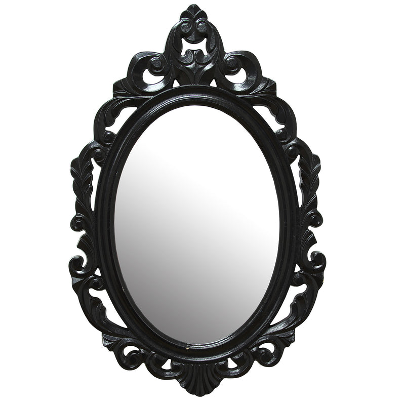 Cipolletti Glossy Black Ornate Wall Mirror