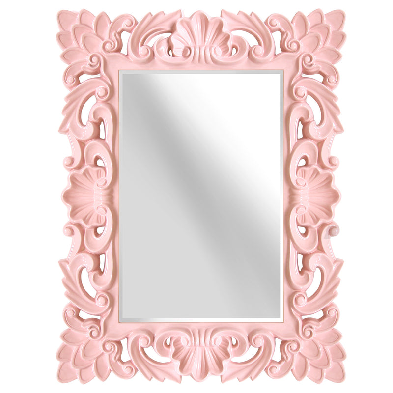 Isabel Ornate Blush Pink Accent Wall Mirror