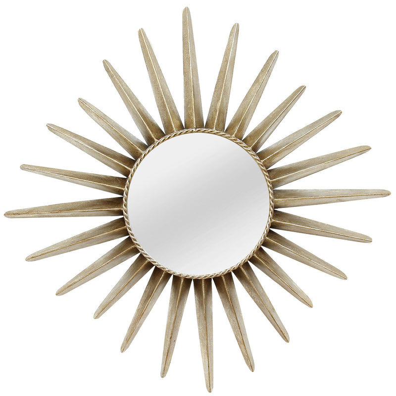 Alexandria Bronze Sunburst Metal Wall Mirror