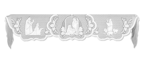 Silent Night Mantle Scarf, White