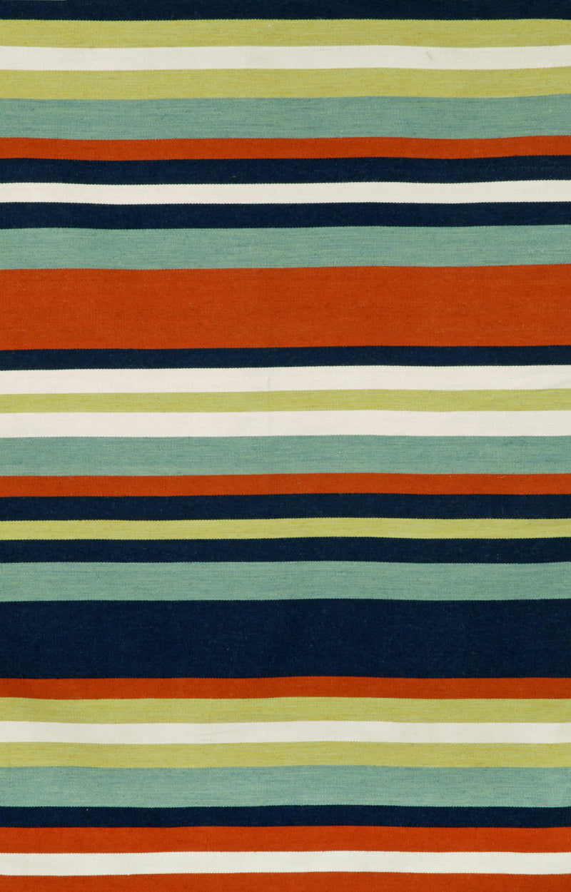 "Tribeca Navy 7'6"" x 9'6"" Indoor/Outdoor Flatweave Rug"