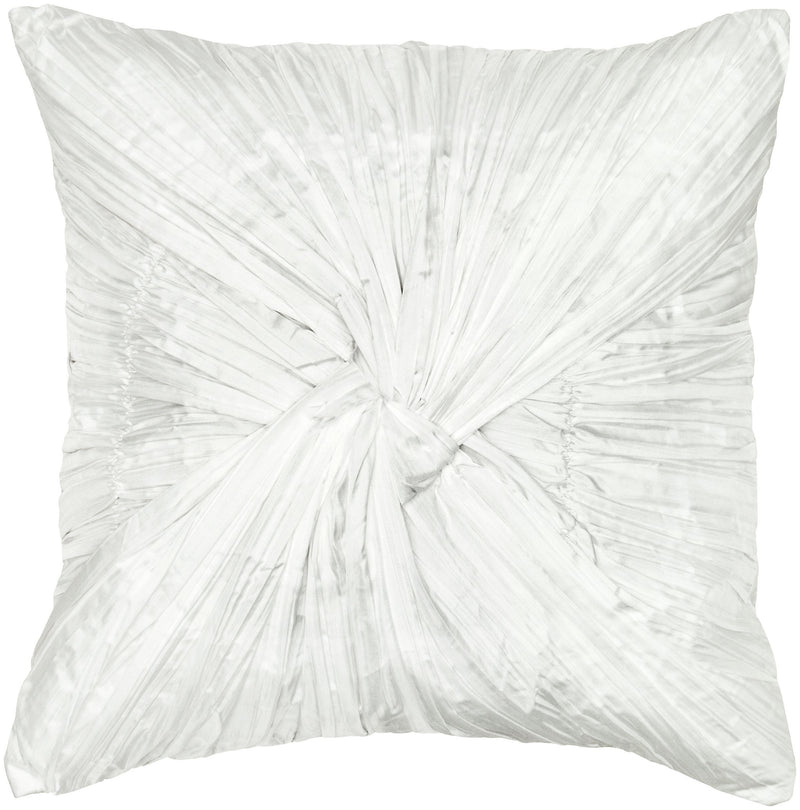 "Twist and Ruching Natural Pillow Cover (18"" x 18"")"