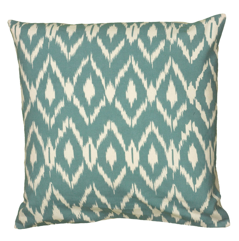 "Printed Teal Pillow Cover (18"" x 18"")"