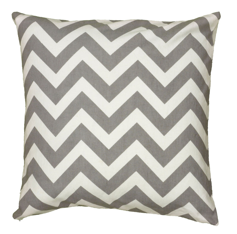 "Printed Gray Pillow Cover (18"" x 18"")"