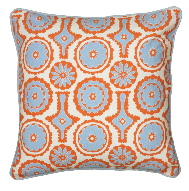"Printed with Cording Orange Pillow Cover (18"" x 18"")"