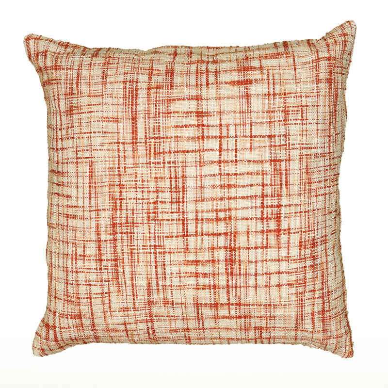 "Woven Cotton Pattern on two Sides Orange Pillow Cover (22"" x 22"")"