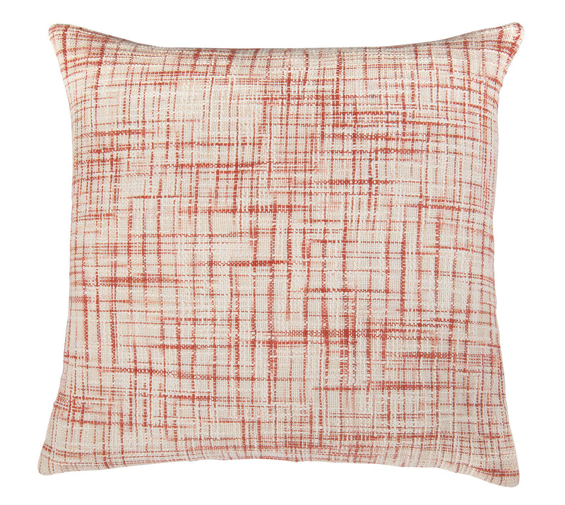 "Woven Cotton Pattern on two Sides Coral Pillow Cover (22"" x 22"")"