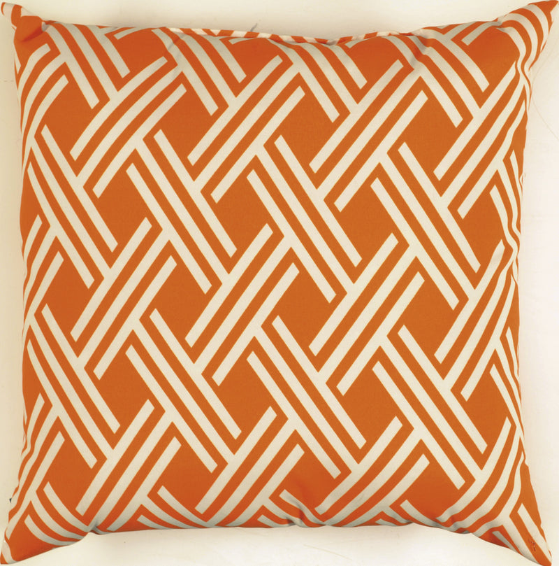 "Prefilled with Sharp Cut Edges Tangerine Pillow (22"" x 22"")"