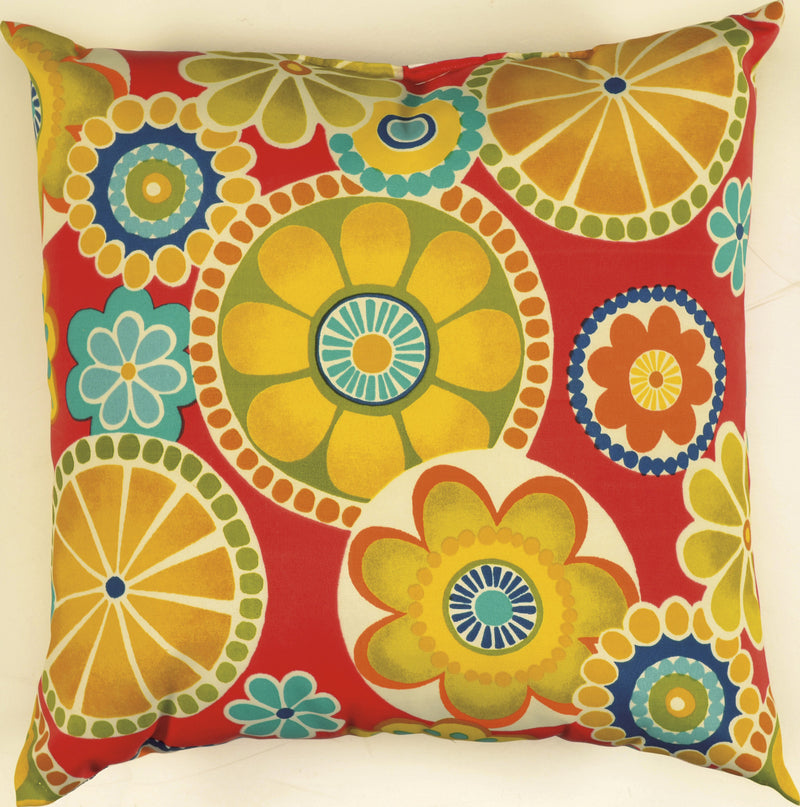 "Prefilled with Sharp Cut Edges Poppy Pillow (22"" x 22"")"