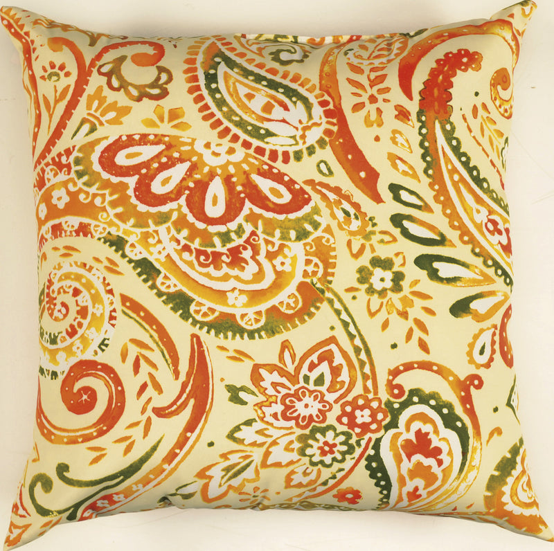 "Prefilled with Sharp Cut Edges Orange Grove Pillow (22"" x 22"")"