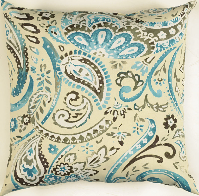 "Prefilled with Sharp Cut Edges Tide Pool Pillow (22"" x 22"")"
