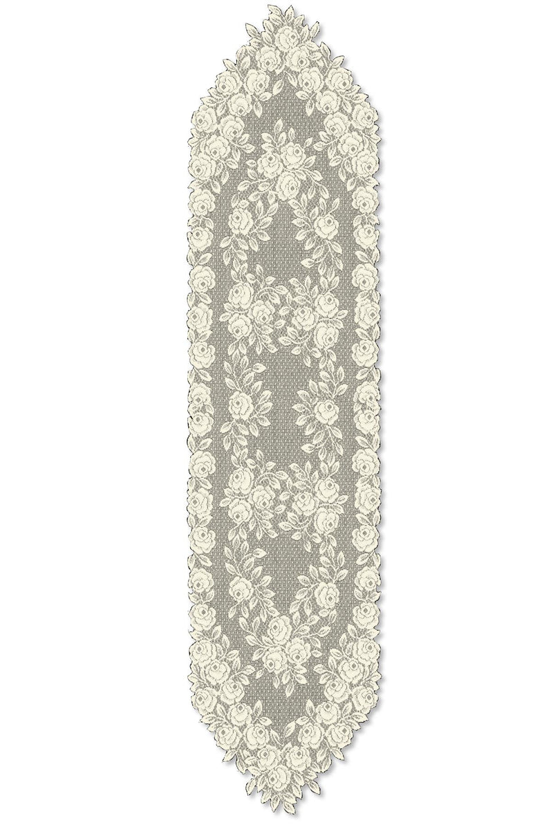 Tea Rose 14X60 Runner, Ecru