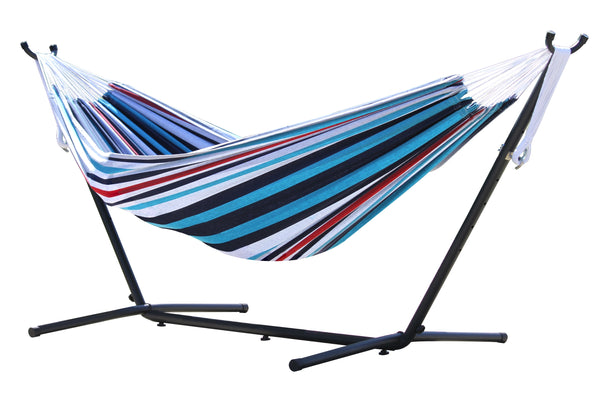 Vivere's Combo - Double Hammock with Stand (9 ft)