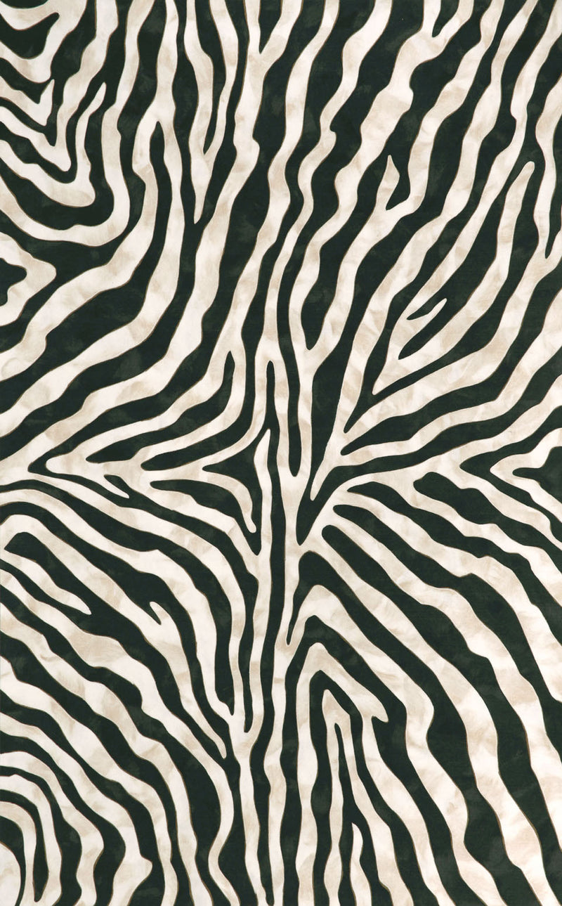 "Zebra Black 24"" x 36"" Indoor/Outdoor Flatweave Rug"