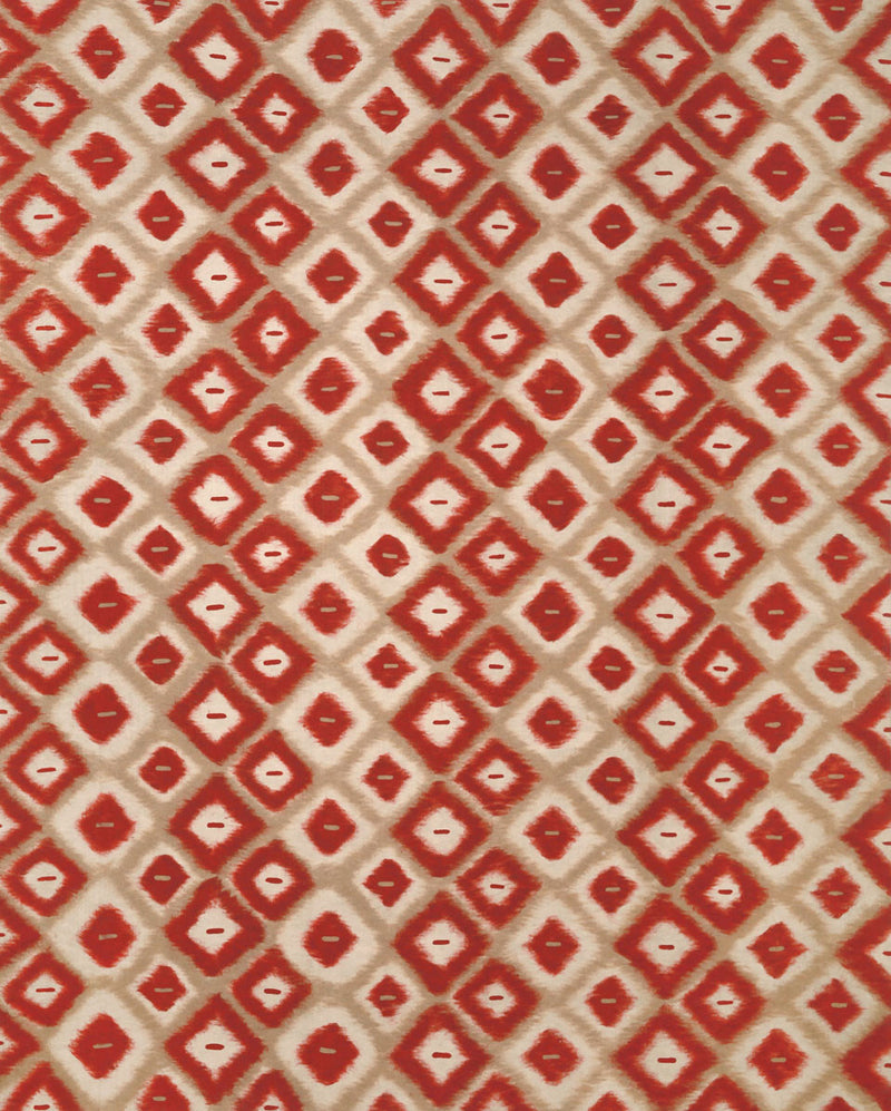 Ikat Diamonds Red 8' x 10' Indoor/Outdoor Flatweave Rug