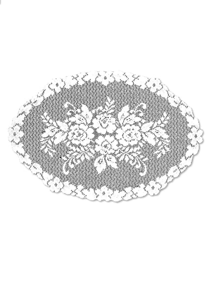 Victorian Rose 13X20 Placemat, White